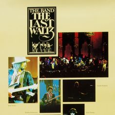 The Band w/ Bob Dylan Last Waltz Movie OST Poster 1978 Album Promo 11.5 x 35.25