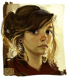 self portrait! turned out a bit cartoony, proportion-wise. process video here.