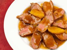 Boneless Duck Breast a l'Orange: Quick-cooking, boneless duck breasts and a perfectly balanced orange sauce make our version of Duck a l'Orange an easy yet elegant entrée for a special occasion. Duck Breast Orange Recipe, Orange Sauce For Duck, Sauce Recipes, Cooking Recipes, Healthy Recipes, Cooking Fails, Wild Duck Recipes, Duck Sauce, Honey