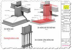 bản vẽ 3d kết cấu móng nhà công nghiệp. Link đăng ký khóa học triển khai bản vẽ nhà công nghiệp tại http://luongtrainer.com/revit-nha-cong-nghiep/