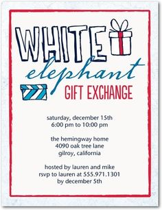 About white elephant gift exchange on pinterest white elephant gift