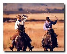 Complete your wall decor with this cowboy western art print wall poster. This wall poster depicts the image of two cowboys riding their horses crossing a dusty prairie with a lasso in his hand is sure to grab lot of attention. This poster will be a great addition to any space especially for someone who loves horse riding. Adorn your walls with this wall poster. Hurry up and grab this wonderful wall poster for its durable quality and high degree of color accuracy.