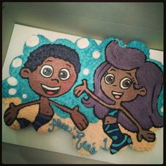 bubble guppie cupcake cake by Curshana