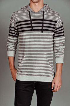 Counter Intelligence Striped Pullover Hoodie
