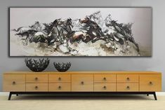 Beautiful horse paintings Large horse paintings Black Horse | Etsy