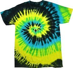 Colortone Tie Dye T-Shirt LG Tropical Breeze: Colortone tie dye apparel is all hand dyed for a superior look and feel. No two garments are exactly alike. Enjoy each for it's own uniqueness. Great Birthday Gift, Holiday Present or Party Favor Tye Die Shirts, Diy Tie Dye Shirts, Tie Dye Tops, Tie Dye Crop Top, How To Tie Dye, Tie And Dye, Camisa Tie Dye, Moda Tie Dye, Tie Dye Crafts