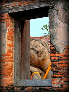 Buddha Chillin at Home, Wat Phutthaisawan, Ayutthaya - Thailand Beautiful Places In The World, Beautiful Places To Visit, Places To See, Around The World In 80 Days, Around The Worlds, Ayutthaya Thailand, Thailand Travel, Dream Vacations, Southeast Asia