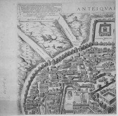 "Pirro Ligorio's ""Antiquae Urbis Romae Imago"" (Image of the Ancient. Ancient Ruins, Ancient Rome, Rome Map, Effigy, Vatican, Italy Travel, Vintage World Maps, City, Prints"