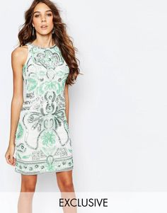 Frock and Frill All Over Embellished Shift Dress