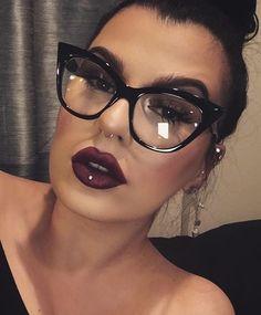 """Currant"" MAC liner + ""Dark Room"" by melt cosmetics Melt Cosmetics, Fashion Eye Glasses, Cat Eye Glasses, Cute Glasses, Glasses Frames, Trending Sunglasses, Sunglasses Women, Sunglasses 2016, Prada Sunglasses"