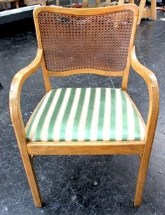 Amazing Reupholstering A Cane Back Chair