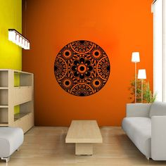 Pinturas Murais Big Mandala Vinyl Wall Decal Yoga Sticker Menhdi Lotus Large Pattern Ornament Om Indian Mural Home Decor