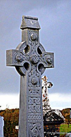 Celtic cross, Co. Galway, Ireland