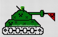 Minecraft Pixel Art Templates: creeper tank