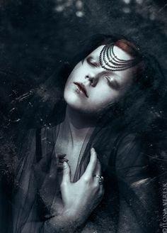 darkness, girl, art,