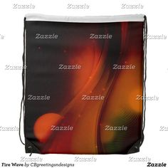 Fire Wave Drawstring Backpack