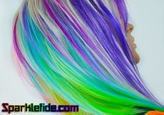 Kaleidoscopic Wig by SparkleFide on Etsy Pastel Rainbow Hair, Magenta Hair, Freak Flag, Cool Hair Color, Cosmetology, Cut And Color, New Hair, Cool Hairstyles, Fashion Beauty