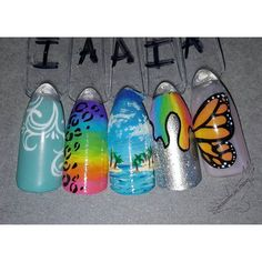 #summernails #tropicalnails #oceanscene #handpainted #detailednailart #handpaintednailart #freehand #freehandnailart #butterflynails #slimenails #rainbownails #flowernailart #floralnails #leopardnails #leopardprint #lisafrank #silvernails #glitternails #beautifulnails #801nails by customs_by_christy