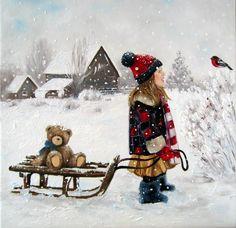 """Шайкина Наталья. """"Снегирь"""" по мотивам картины Роберта Дункана."""