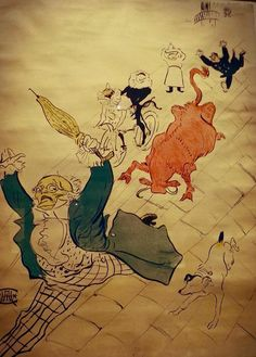 The amazing art of Henri de Toulose-Lautrec. at Palazzo Blu in Pisa (Toscany)