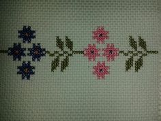 This Pin was discovered by Büş Blackwork, Cross Stitch Embroidery, Diy And Crafts, Cross Stitch Rose, Cross Stitch Patterns, Letters With Flowers, Cross Stitch Alphabet, Towels, Craft