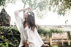 Bata de seda corta por Pol Nuñez #Lenceria #brides #modamujer