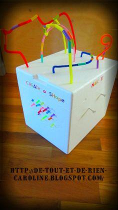 De tout et de rien: Activités pour le Préscolaire: Cube de jeu sur 5 faces