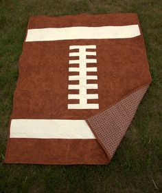 PDF Baby Quilt Pattern - Rookie Quarterback - printed pattern - baby football sports quilt pattern - touchdown - diy - quick and easy. $8.49, via Etsy.