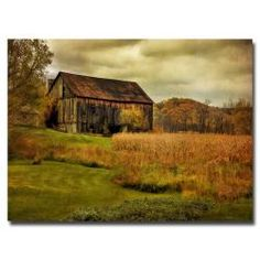 @Overstock - This gallery-wrapped art piece features a landscape composition by artist Lois Bryan. This giclee print on canvas is ready to hang.http://www.overstock.com/Home-Garden/Lois-Bryan-Old-Barn-on-Rainy-Day-Canvas-Art/6437519/product.html?CID=214117 $119.29