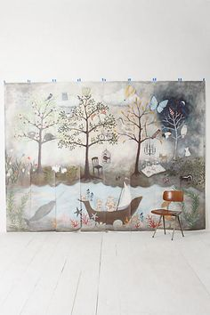 Enchanted forest nursery on pinterest forest nursery for Anthropologie enchanted forest mural