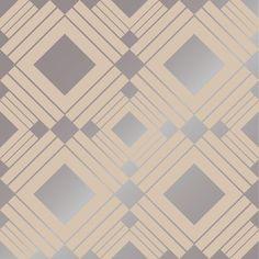 "Tempaper Diamond Self-Adhesive Removable 33' x 20.5"" Geometric Panel Wallpaper & Reviews   Wayfair"
