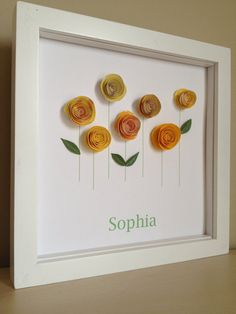 Yellow Rose Garden 3D Paper Art Customize with your by PaperLine, $35.00