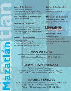 Programación Cultural de Diciembre   Mazatlán, Sin.