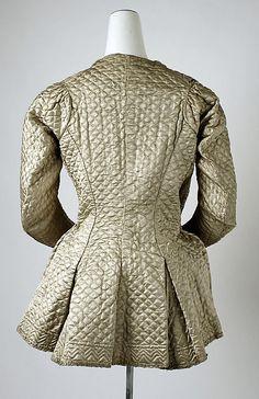 Bed jacket, 1700-1750, British, silk.  (c)The Metropolitan Museum of Art