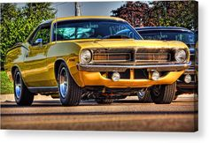Hemi'cuda Acrylic Print by Gordon Dean II.  All acrylic prints are professionally printed, packaged, and shipped within 3 - 4 business days and delivered ready-to-hang on your wall. Choose from multiple sizes and mounting options.
