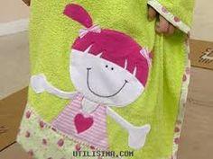 Resultado de imagen de como hacer toalla de baño infantil con toalla