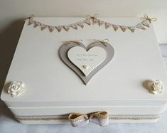 wooden wedding memory keepsake box fully personalised with one of