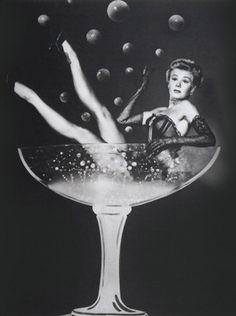 Girl in a glass of Bubbly