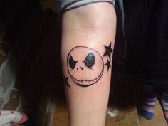 Skeleton Jack head tattoo.