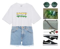"""""""Untitled #322"""" by mathildejohannessen ❤ liked on Polyvore featuring YHF, Chanel, NIKE, Laura Cole and M.i.h Jeans"""