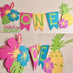 Hawaiian Banner - Moana Themed Birthday - Luau Decorations - Tropical Hibiscus Pineapple - High chair banner by ArtisticAnyaDesigns on Etsy Moana Birthday Party, Moana Party, Luau Birthday, Luau Party, 1st Birthday Parties, Birthday Ideas, High Chair Decorations, Luau Decorations, Purple Hibiscus