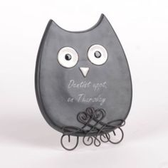 Chalkboard Owl Memo Board with Stand | Kirkland's. Cute for an owl kitchen or office.