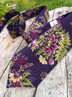 """Designer Tie - """"Edna"""" - Hand Stitched. $39.00, via Etsy."""