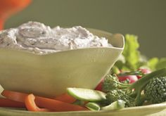 Sour Cream Yogurt Dip -- a perfect Mrs. Dash recipe - mrsdash.com #saltsubstitute #nosalt #dip