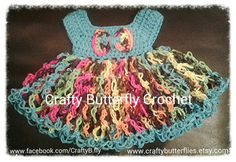 Knotty Rain Bows Easter dress by CraftyButterflies on Etsy, $25.00