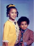 Young Vanessa and Chris Williams