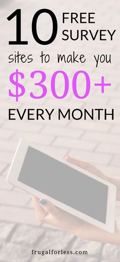 Read on for the 10+ best free survey sites. Survey sites | survey sites that pay | make money online | work from home | side hustle | money making apps | save money.