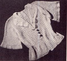 Items similar to PDF Antique Beautiful Mother & Baby Frilly Lace Bedjacket and Shawl Crochet Knitting Pattern, Christening 'Solomons Knot' Blanket Victorian on Etsy Doll Patterns, Vintage Patterns, Stitch Patterns, Knitting Patterns, Crochet Patterns, Knot Blanket, Afghan Blanket, Vintage Knitting, Baby Knitting