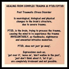 This is probably THE best post I've seen! It simply sums up a very painful and frustrating truth! I so wish people would take the time to truly understand PTSD - and just as importantly - help bring awareness to and prevent Sexual Abuse!