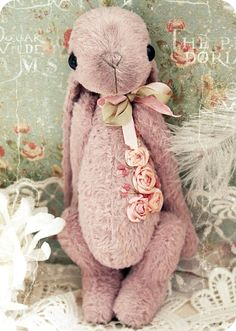 bunny with ribbon embroidery
